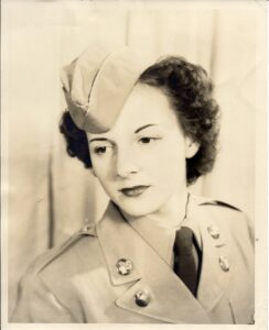 Mom in her Army service years.